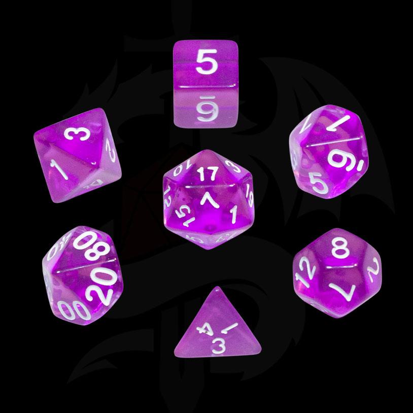 Purple Translucent DND Dice