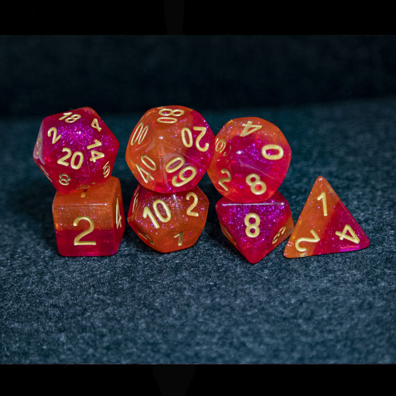 Hot Pink Lava DND Dice