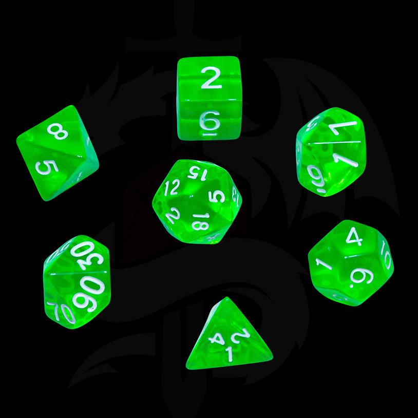 Green Translucent DND Dice