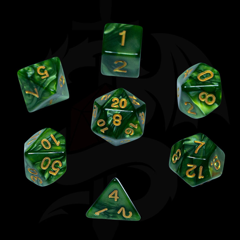 Green Pearl DND Dice