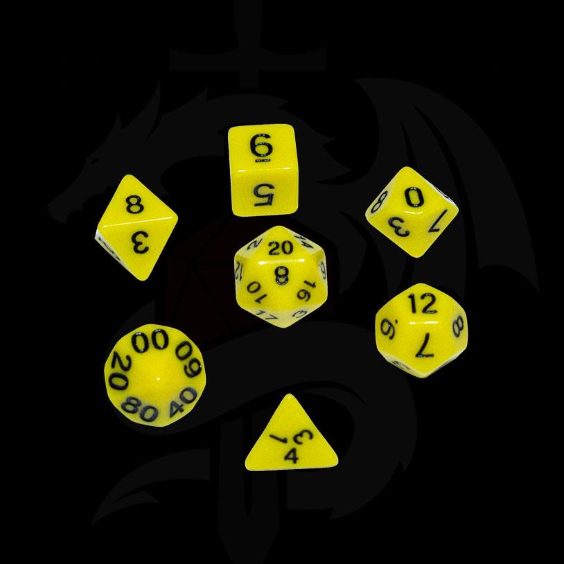 Yellow Original DND Dice